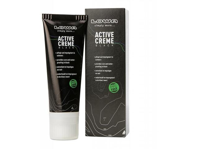 Lowa Active Creme Cire pour chaussures 75ml sans PFC, black